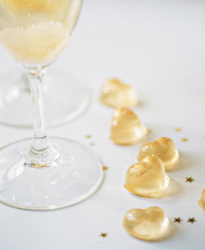 Champagne Gummy Hearts