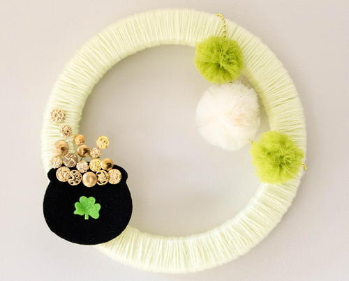 DIY St Patricks Day Wreath