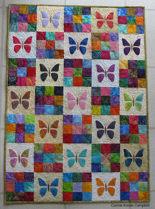 Scrappy Butterfly Baby Quilt Tutorial | FaveQuilts.com : fave quilts - Adamdwight.com