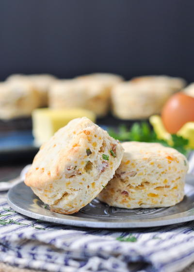Cheddar, Chive and Bacon Biscuits
