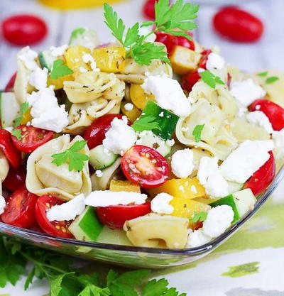 6 Ingredient Greek Tortellini Pasta Salad