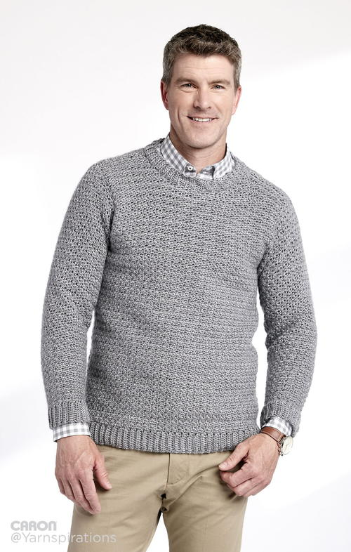 Adult Crochet Crew Neck Pullover