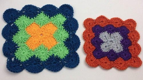 Catherine Wheel Stitch Squares