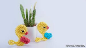 Easy Duckling Crochet Applique