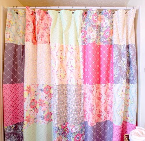 Fat Quarter Patchwork Shower Curtain