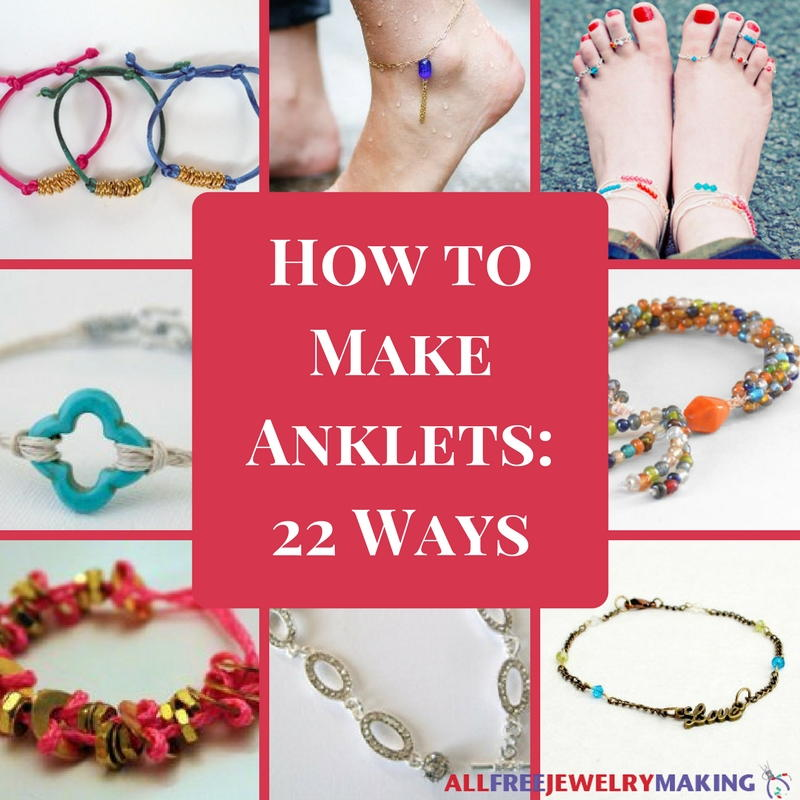 how to make anklets with embroidery thread