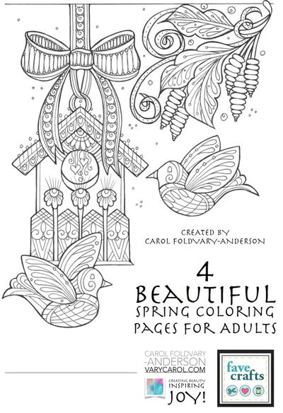 Bekend 7 Free Printable Coloring Books (PDF Downloads) | FaveCrafts.com #NC03