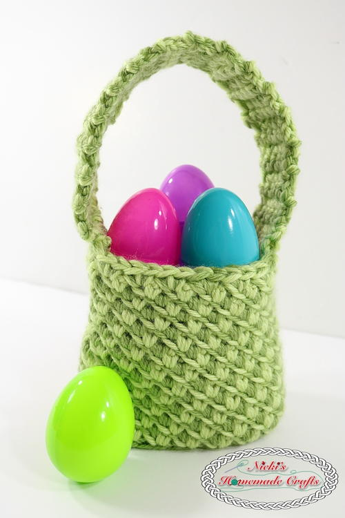 Mini Crochet Easter Basket