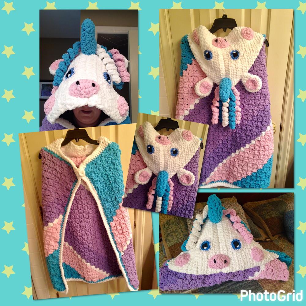 Unicorn Blanket C2c Allfreecrochet