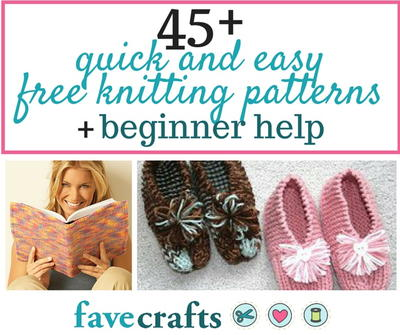 45 Easy Free Knitting Patterns for Beginners | FaveCrafts.com