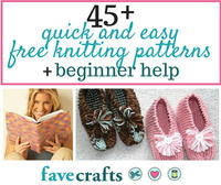 45 Quick and Easy Free Knitting Patterns and Beginner Help