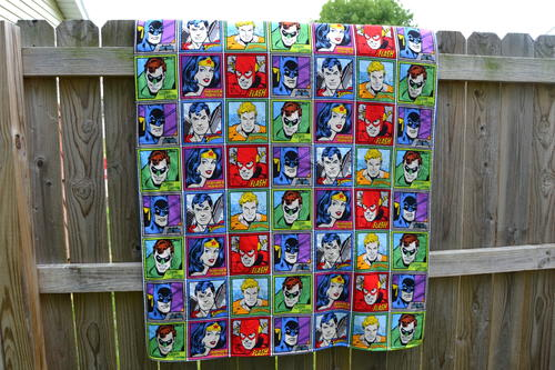 Super Friends Squares Blanket