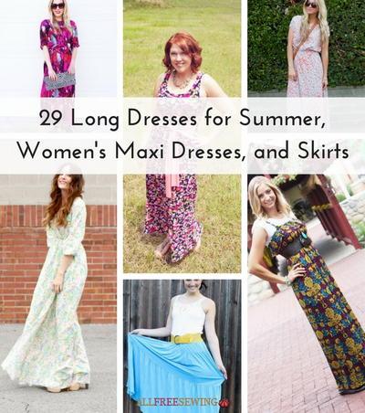 Maxi dress tutorial 4 rectangles side