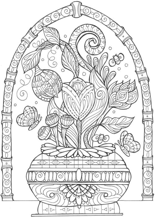 43 Printable Adult Coloring Pages (PDF Downloads) | FaveCrafts.com
