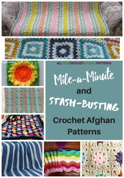 15 Mile-a-Minute and Stash-Busting Crochet Afghan Patterns ...
