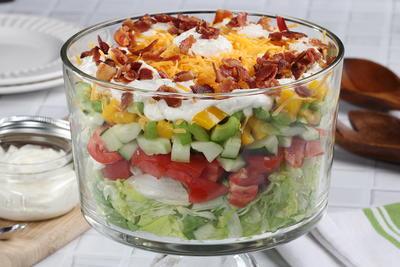 heavenly layered salad mrfood com