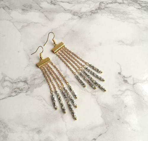 Stunning Waterfall DIY Beaded Earrings | AllFreeJewelryMaking.com