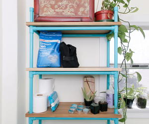 Genius Painted PVC DIY Shelf