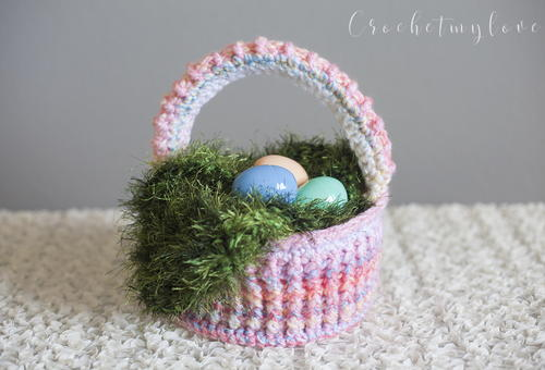 Easter Basket And Grass Crochet Pattern Allfreecrochet
