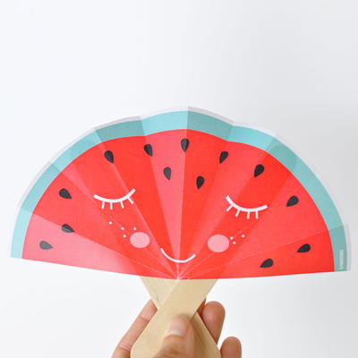 Printable Fruit Fan Paper Craft