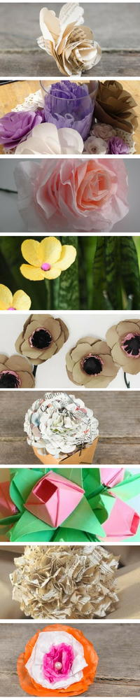 How to make paper flowers 30 diy paper flowers if you are wondering what to use to make paper flowers then you are not alone a lot of people who have never made diy paper flowers wonder which paper is mightylinksfo
