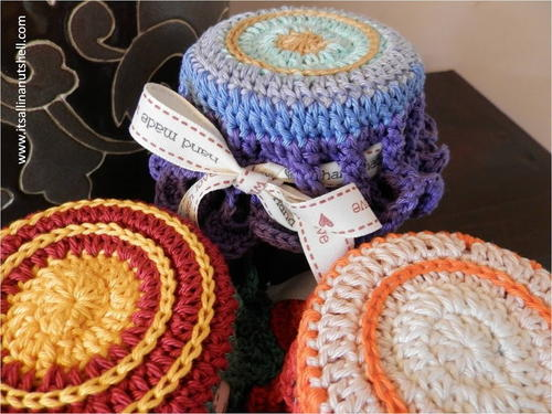 Crochet Mandala Jar Topper