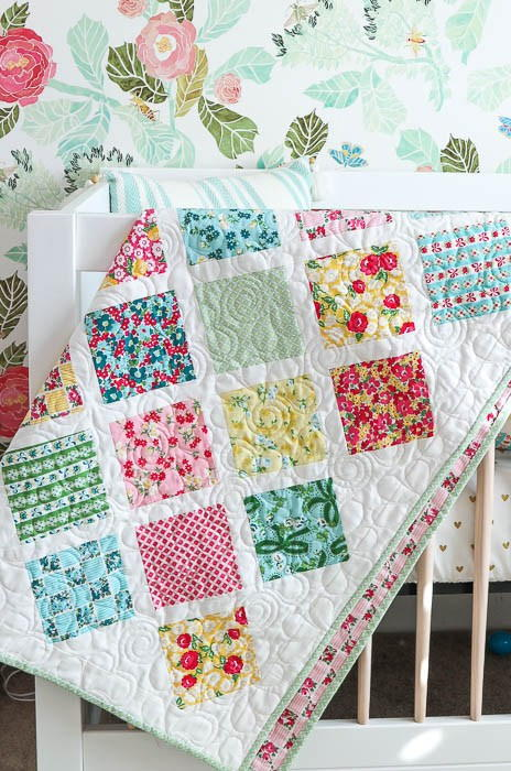 Springtime Lattice Baby Quilt Tutorial FaveQuilts Classy Baby Quilt Patterns