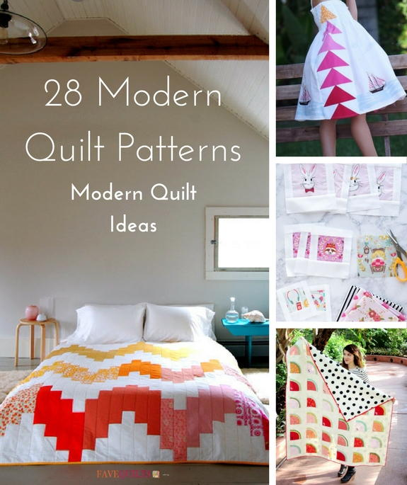 28 Modern Quilt Patterns and Modern Quilting Ideas | FaveQuilts.com : modern quilt design - Adamdwight.com