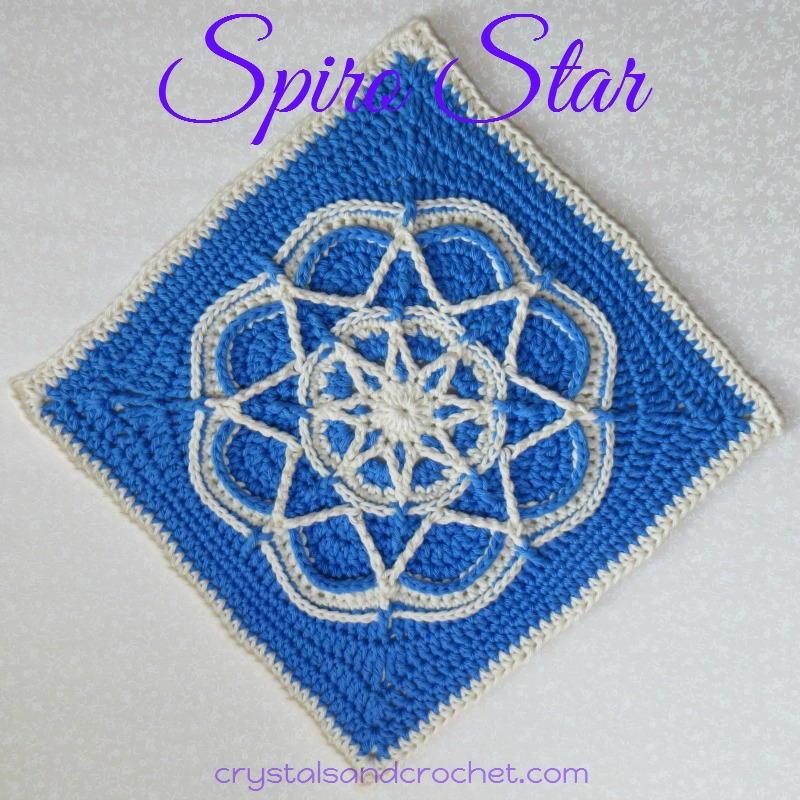 Spiro Star Crochet Granny Square Allfreecrochet