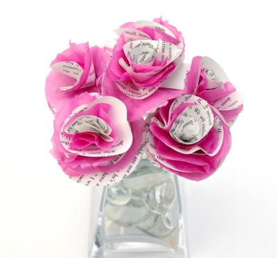 Nifty book page tissue paper flowers allfreepapercrafts nifty book page tissue paper flowers mightylinksfo