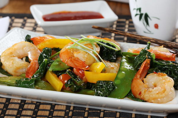 Tasty Tuscany Shrimp Stir-Fry