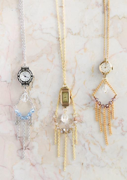 Gorgeous Watch DIY Vintage Necklace
