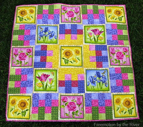 Summer Flower Garden Quilt Tutorial