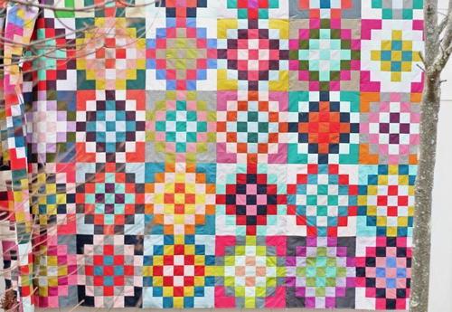 garden quilt. Checkered Garden Quilt Tutorial
