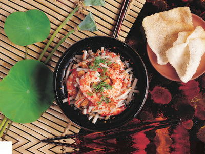 Lotus Stem Salad with Shrimp Goi Ngo Sen