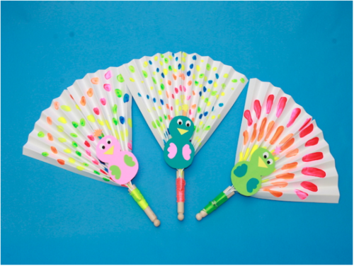 Paper Fan Peacock Craft