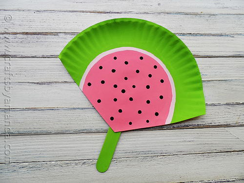 Paper Plate Watermelon Craft & Paper Plate Watermelon Craft | AllFreeHolidayCrafts.com