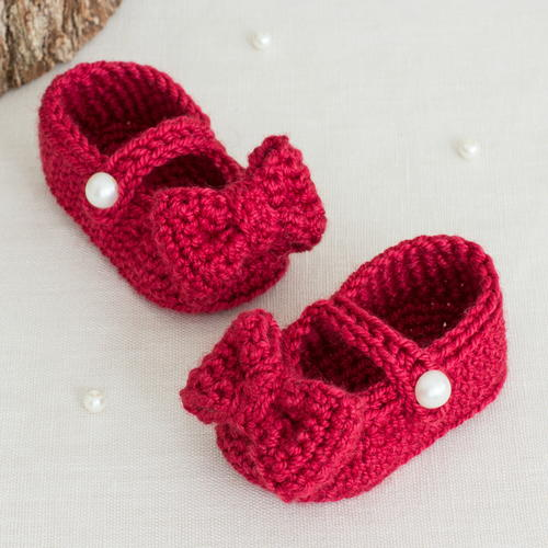 Ruby Red Mary Jane Booties Allfreecrochet