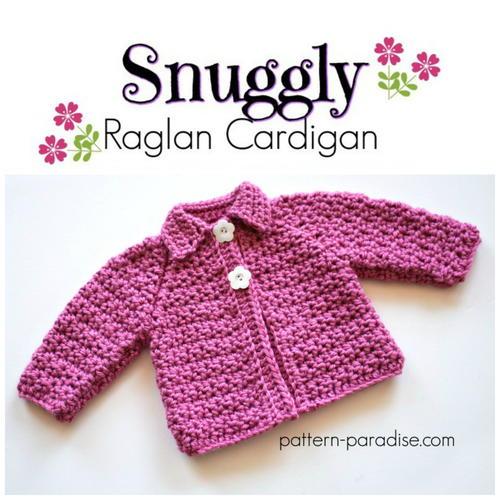 Snuggly Raglan Cardigan Allfreecrochet