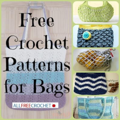 31 Free Crochet Bags + Free eBook
