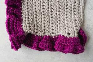 How to Crochet Ruffle Edging