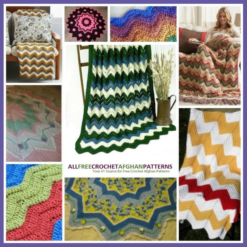 15 Ravishing Ripple Afghan Patterns | AllFreeCrochetAfghanPatterns.com