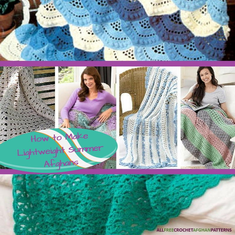 Crochet Blanket Patterns How To Make 14 Lightweight Summer Afghans