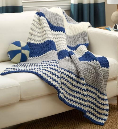 Athleisure Striped Throw