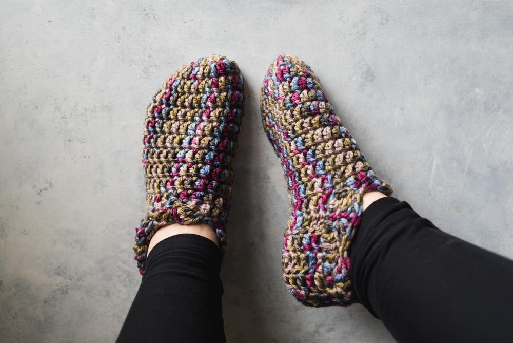 One Hour Crochet Slippers Allfreecrochet
