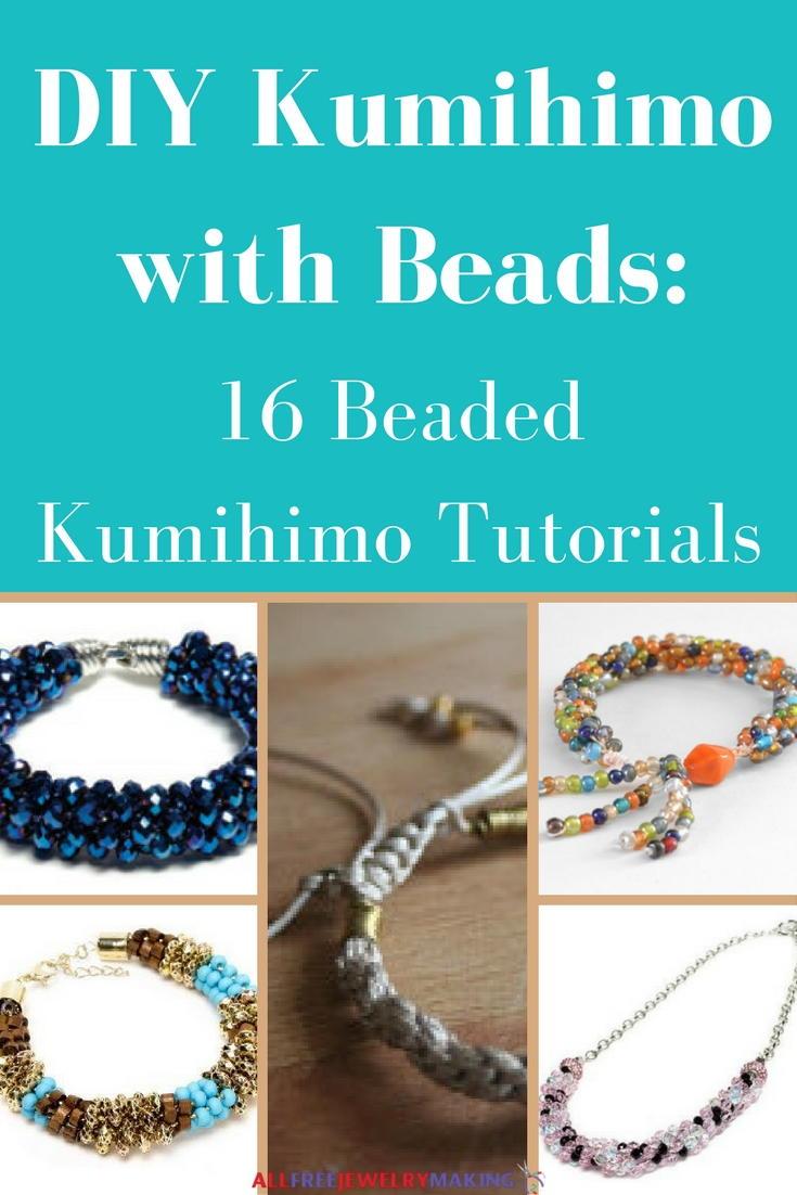 Diy Kumihimo With Beads 16 Beaded Kumihimo Tutorials