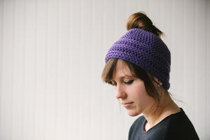 Quick and Easy Messy Bun Hat
