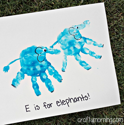 Elephant Handprint Art
