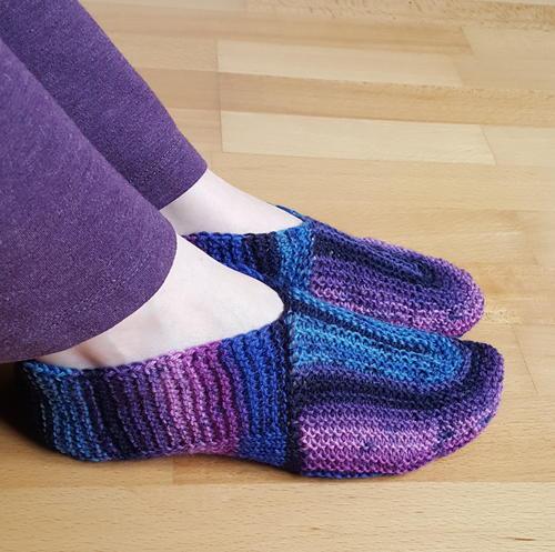 U Turn Knit Slippers Allfreeknitting