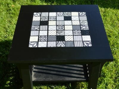 How to Make a Mosaic Side Table